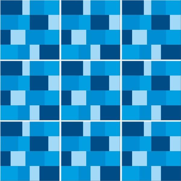 Blaue Pixel