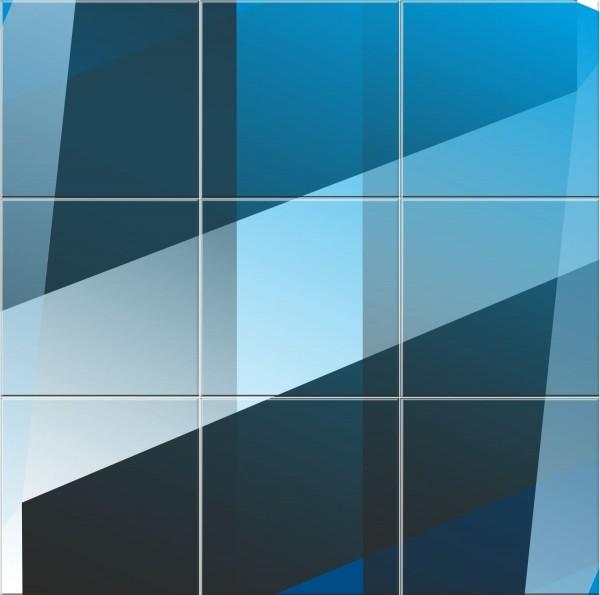 Blauer Fliesenspiegel