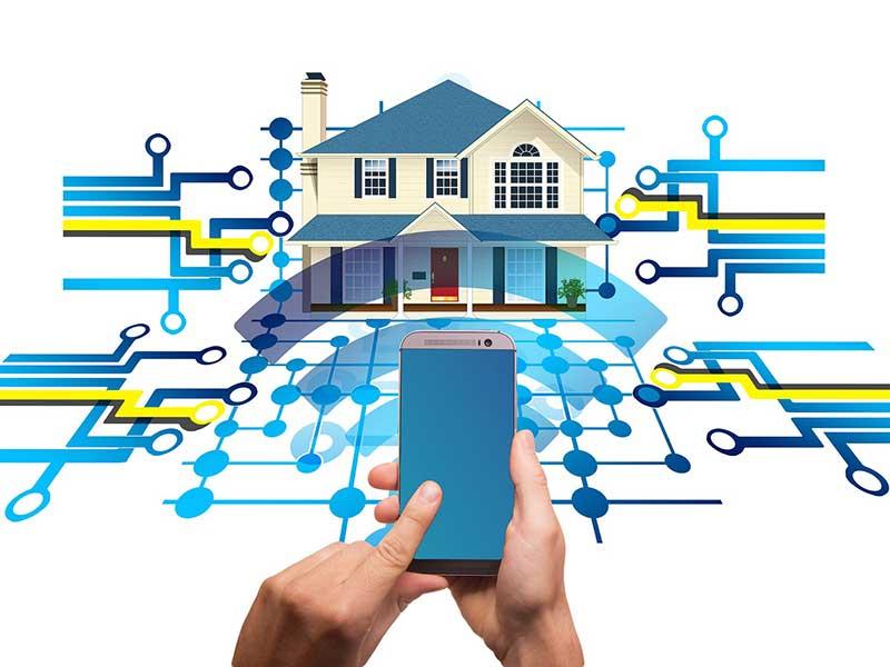 Darstellung einer internen Smart-Home-Vernetzung
