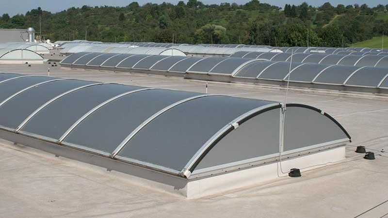 SOL-poly-grau - Sonnenschutzfolie für Lichtbänder